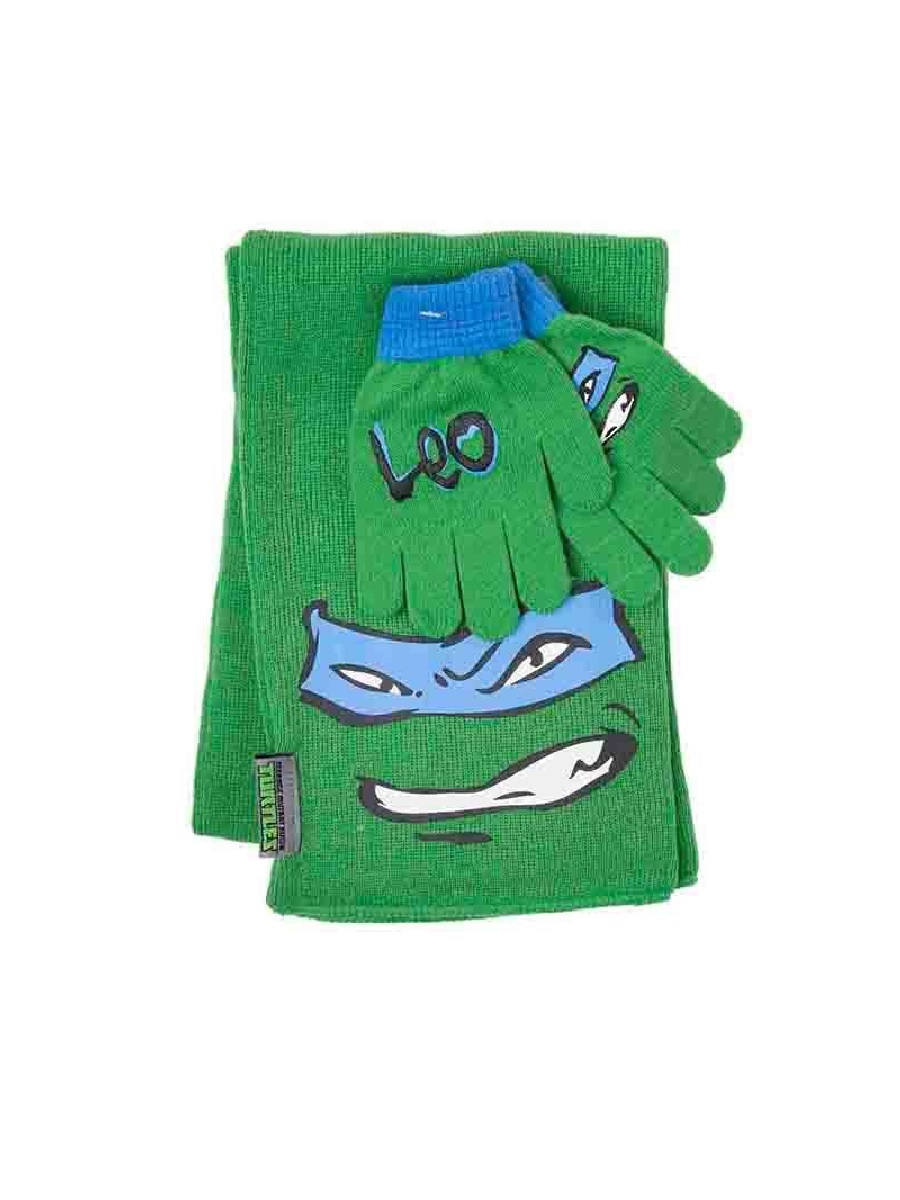 Перчатки и шарф Turtles Leonardo Scarf and Gloves