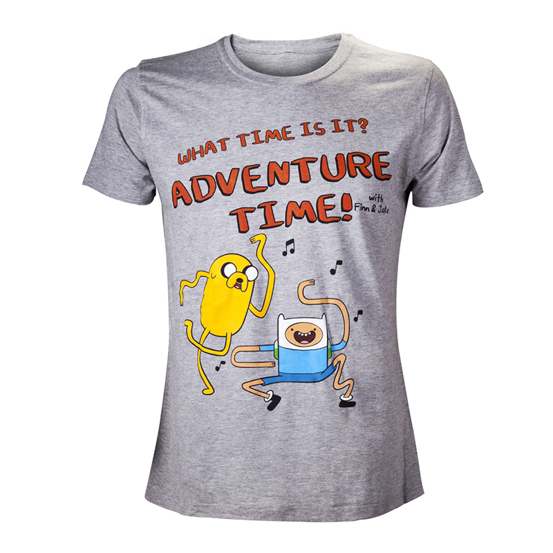 Футболка Adventure Time What Time Grey M