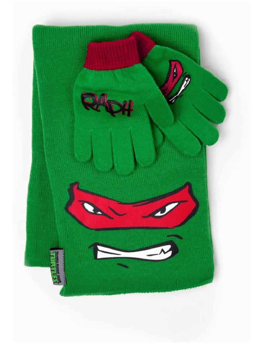 Перчатки и шарф TMNT Raphael Scarf and Gloves