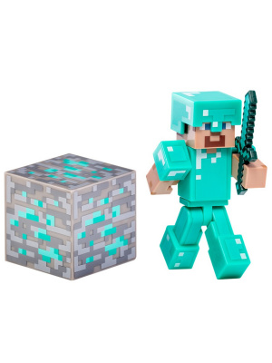 Фигурка Minecraft Diamond Steve пластик 8см